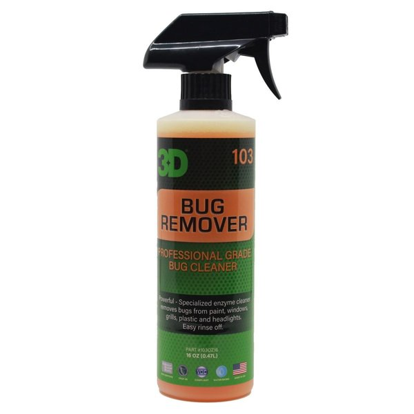 3D PRODUCTS 3D Bug Remover - 16 oz / 473 ml Spray Fles