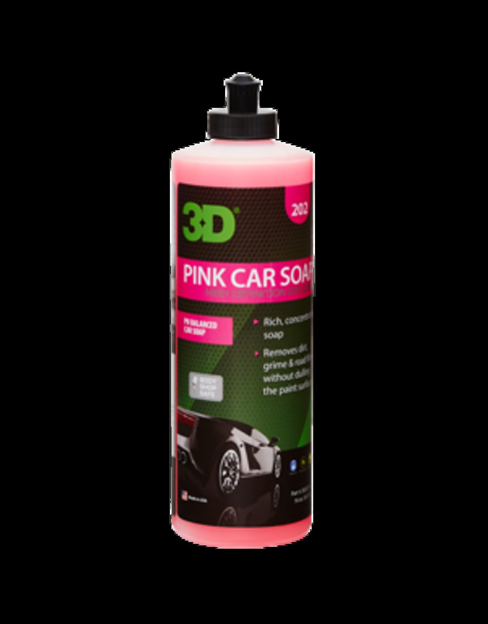 3D PRODUCTS 3D Pink Car Soap - 16 oz / 473 ml Flacon