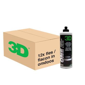 3D PRODUCTS 3D One Hybrid Compound & Polish - 32 oz / 0.95 Lt  - 12x Flacon - Grootverpakking