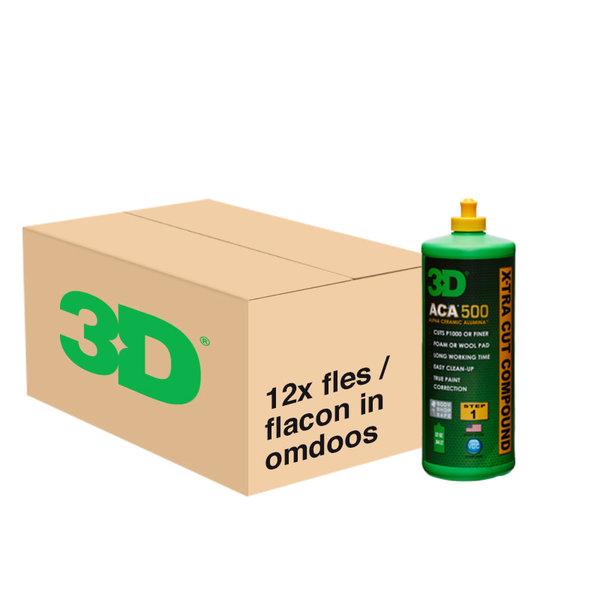 3D PRODUCTS 3D ACA X-TRA CUT Compound 500 - 12x 32oz/946 ml - grootverpakking