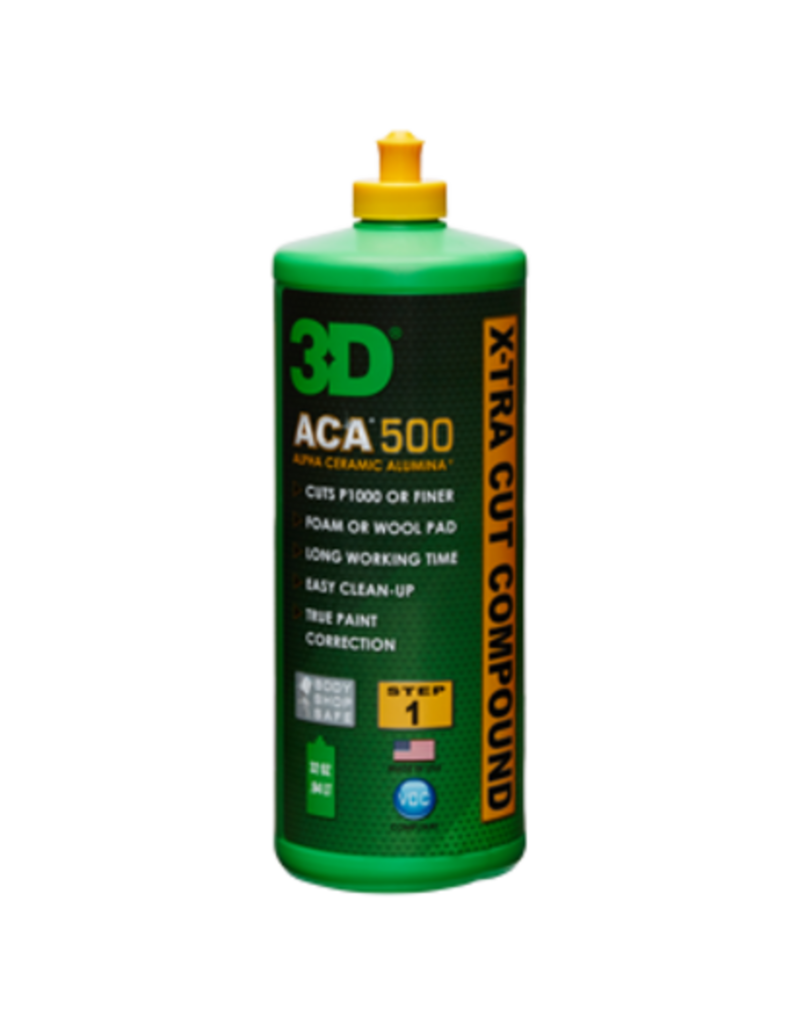 3D PRODUCTS 3D ACA X-TRA CUT Compound 500 - 32oz/946 ml fles