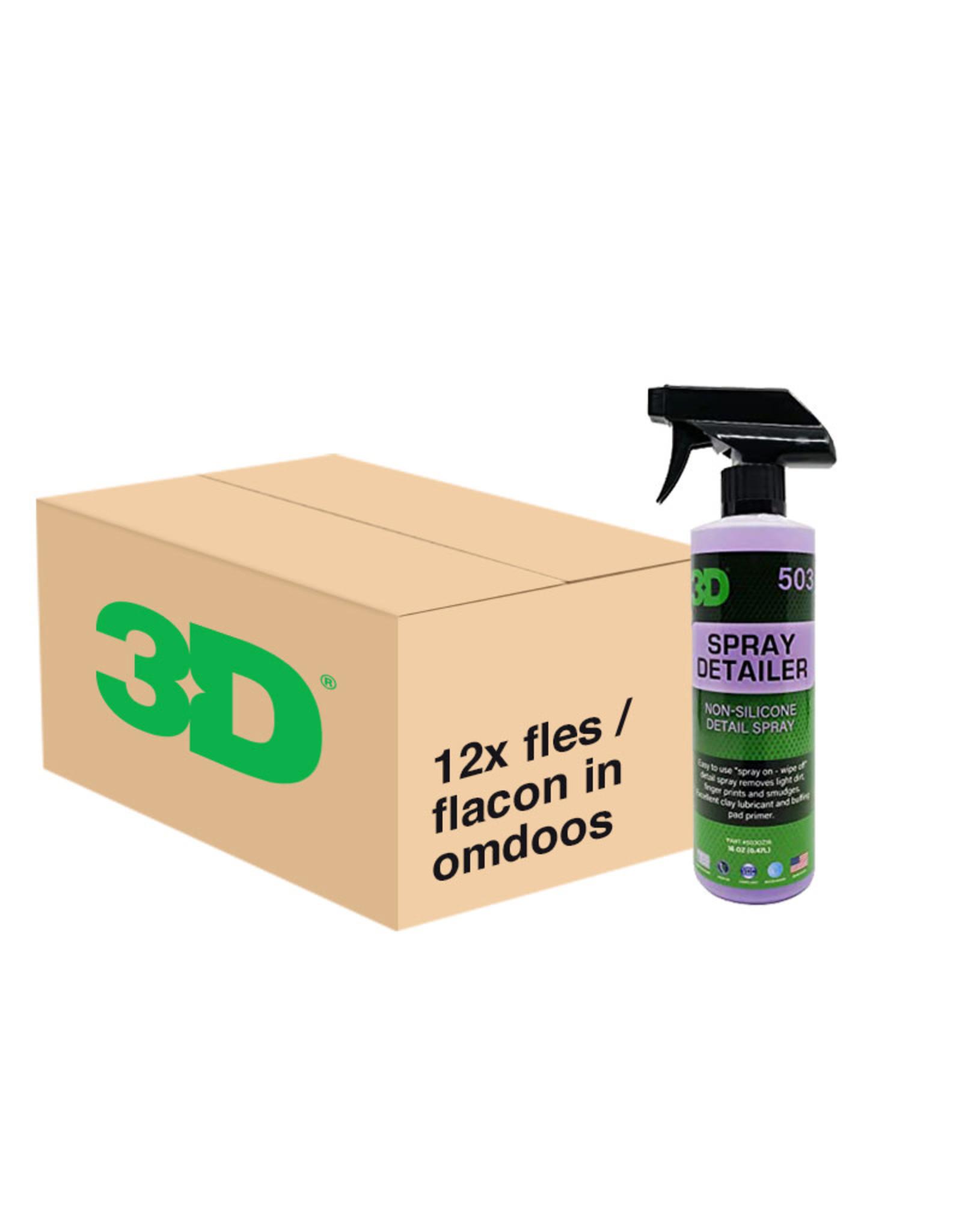 3D PRODUCTS 3D Spray Detailer - 16 oz / 473 ml - 12x Spray Fles - grootverpakking
