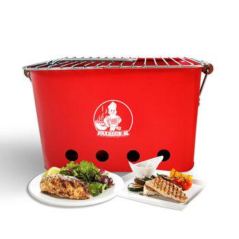 VIKKIEERIN.NL Vikkieerin.nl - Draagbare Houtskool BBQ - rechthoekig - rood