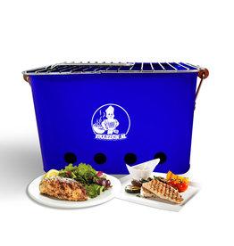 VIKKIEERIN.NL Vikkieerin.nl - Portable Charcoal BBQ - square - blue