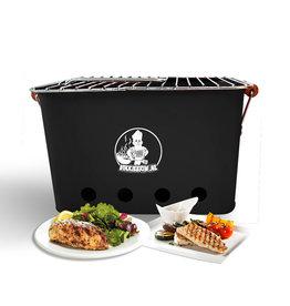 VIKKIEERIN.NL Vikkieerin.nl - Portable Charcoal BBQ -  square - black