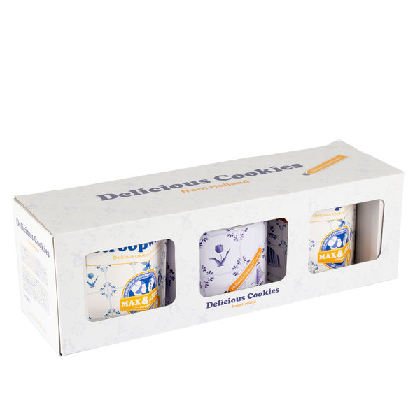 Max & Alex Max & Alex Sirup Waffles in Deluxe Giftbox Deluxe (2x hexa + 1x tin) in a box