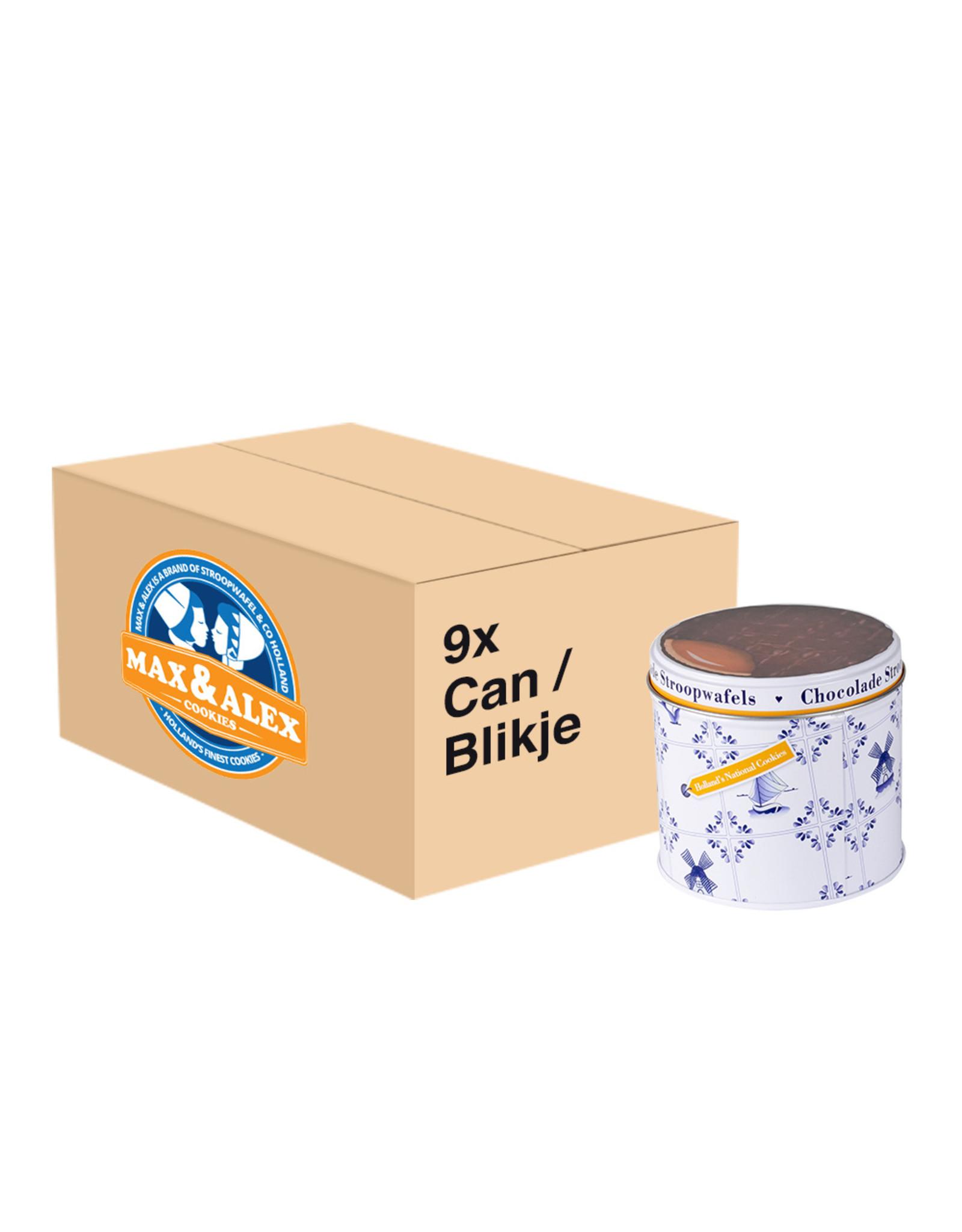 Max & Alex Max & Alex Chocolat Sirop Gaufres en conserve (270 gramme) 9x - carton principal