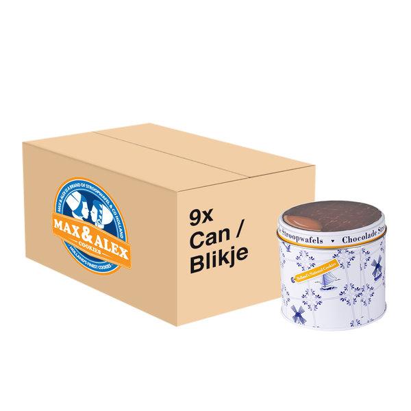 Max & Alex Max & Alex Chocolate Syrup Waffles in Tin Can (270 gram)  9x - master carton