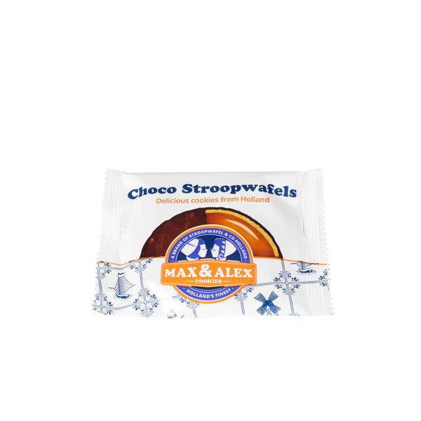 Max & Alex Max & Alex Chocolade Stroopwafels in Blik (270 gram)  9x - omdoos