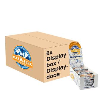 Max & Alex Max & Alex Sirop Gaufres emballage duo - display box (15x 80 gramme SRP) 6x - carton principal