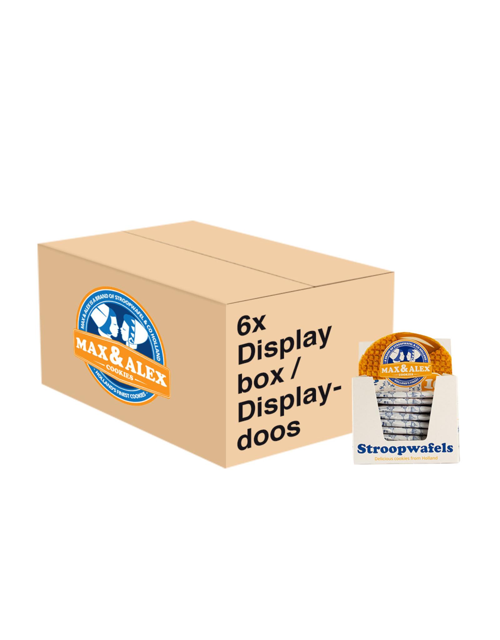 Max & Alex Max & Alex Sirop Gaufre Seulement Emballé SRP display (10x 31,5 gramme) 6x - carton principal