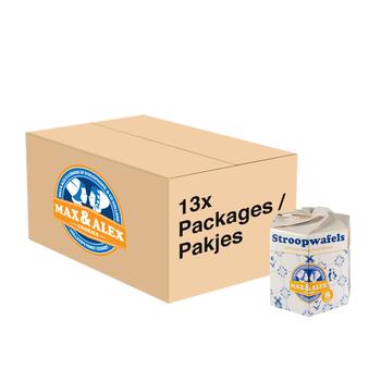 Max & Alex Max & Alex Stroopwafels 13x 250 gram Hexa verpakking - omdoos