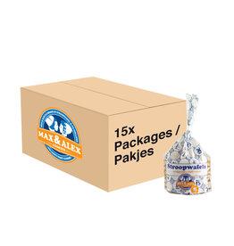 Max & Alex Max & Alex - Stroopwafels 250 gram - 15x pakje (omdoos)