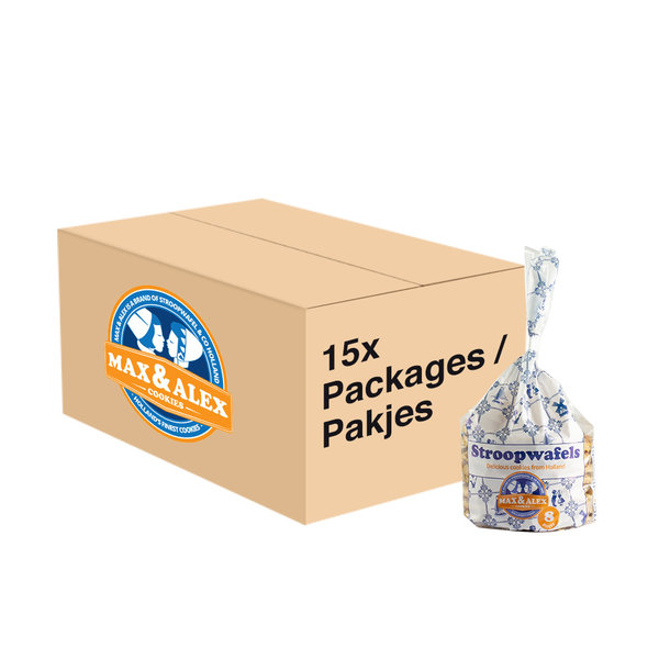 Max & Alex Max & Alex Sirop Gaufres 250 gramma 15x poche 120 gateaux - carton principal