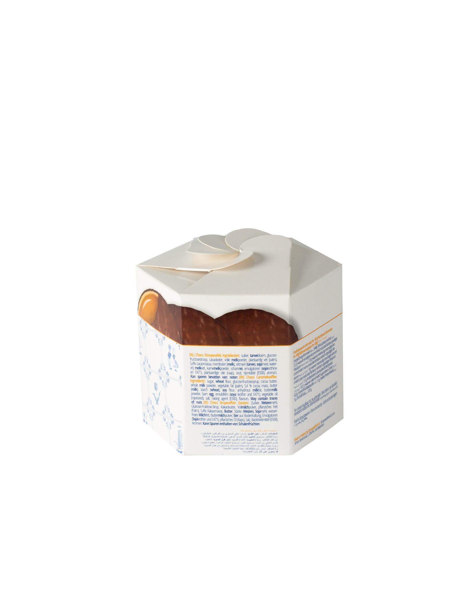 Max & Alex Max & Alex Chocolade Stroopwafels Hexa (270 gram)  9x - omdoos