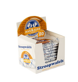 Max & Alex Max & Alex Single Packed Sirup Waffle - SRP display (10x 31,5 gram)