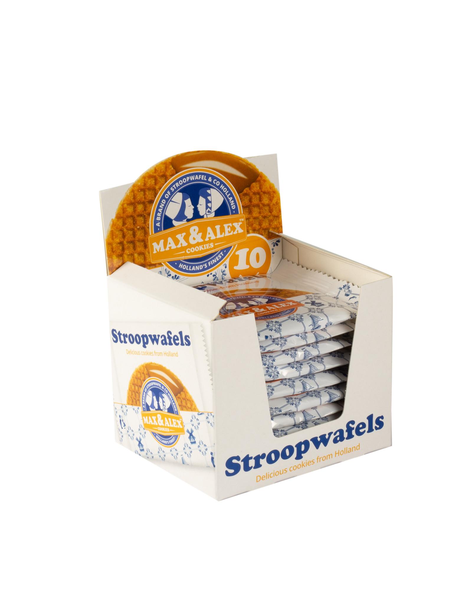 Max & Alex Max & Alex Stroopwafel verpakt per stuk - SRP display (10x 31,5 gram) 6x - omdoos