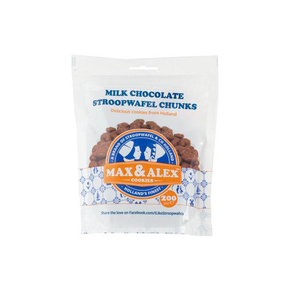 Max & Alex Max & Alex - Stroopwafelstukjes Melk Chocolade - 200 gram zakje