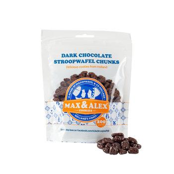 Max & Alex Max & Alex - Sirop Marceaux de Gaufrette Chocolat Noir - 200 gramme poche