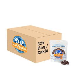 Max & Alex Max & Alex - Syrup Waffle Chunks Dark Chocolate - 32x 200 gram bag (master carton)