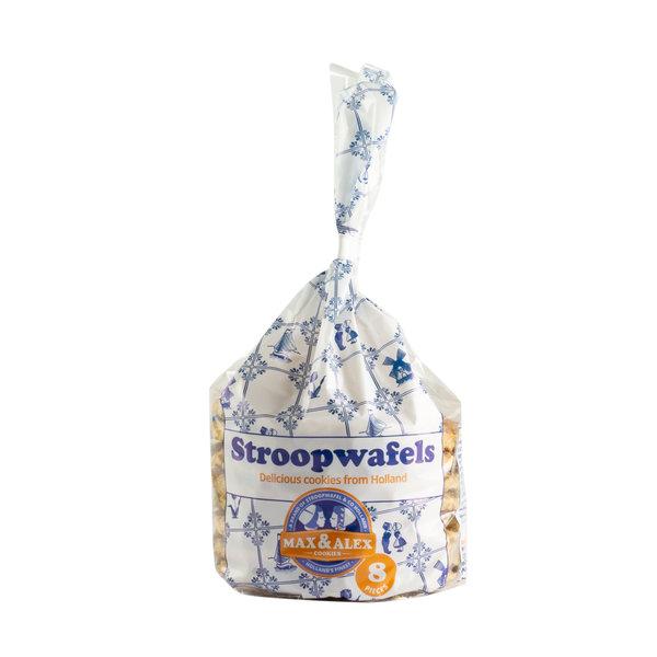 Max & Alex Max & Alex Stroopwafels in Delftsblauw Blik (250 gram) 9x - omdoos