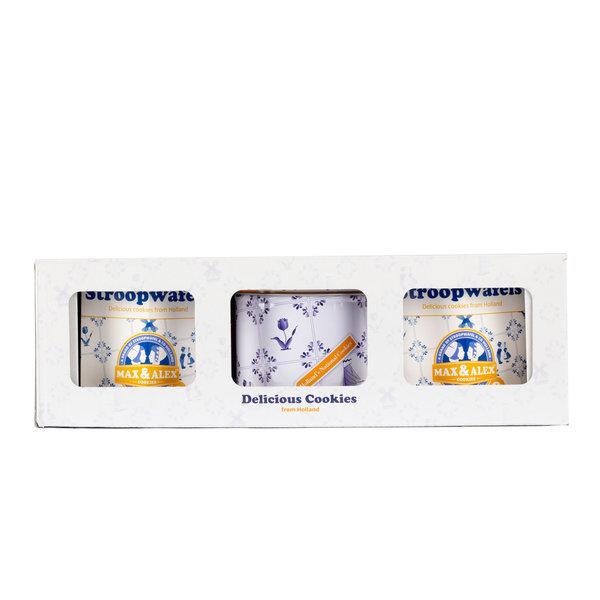 Max & Alex Max & Alex Stroopwafels in Deluxe Geschenkset (2x hexa + 1x blik) 6x  - omdoos