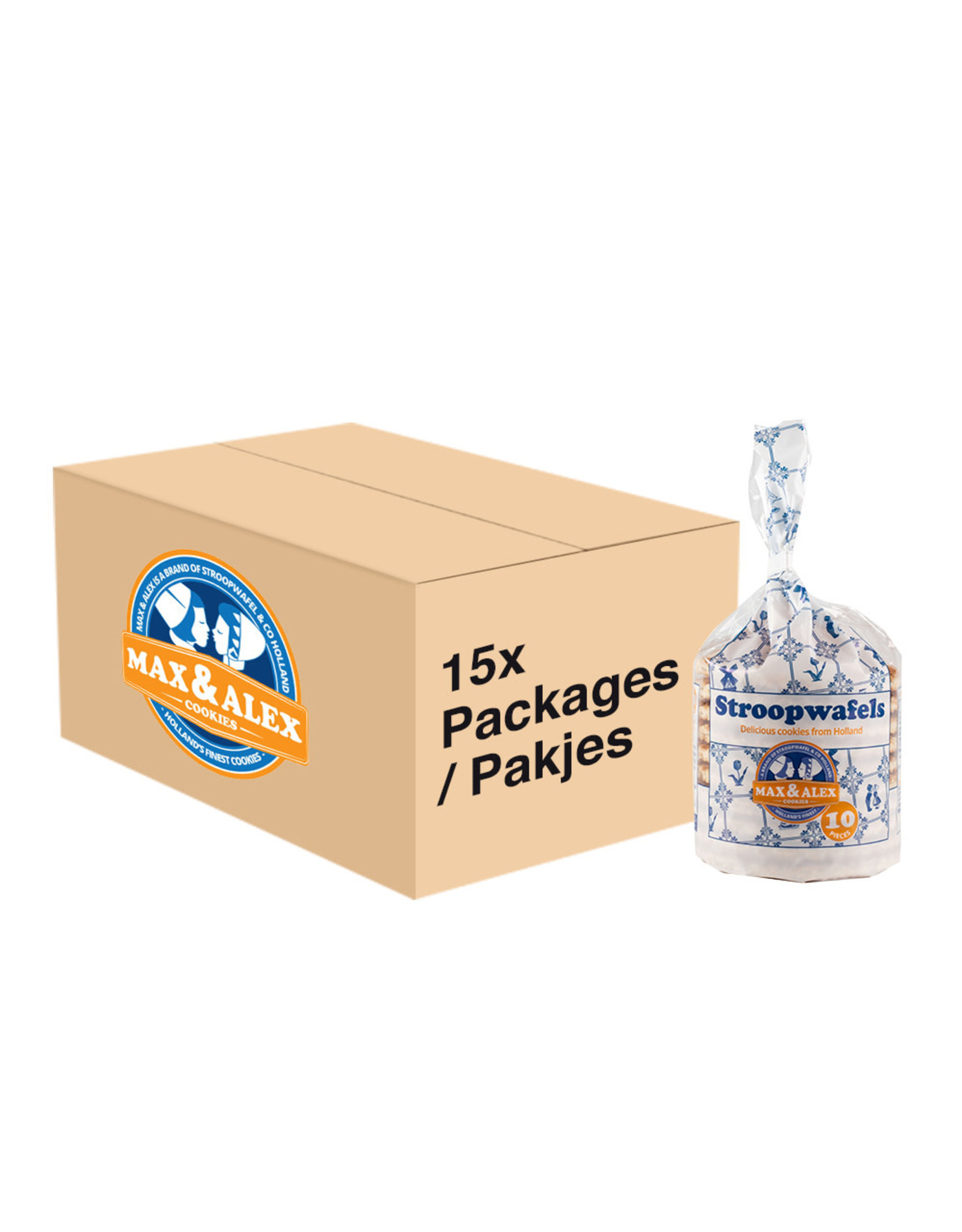 Max & Alex Max & Alex Sirop Gaufres 15x 250 gramme poche - carton principal
