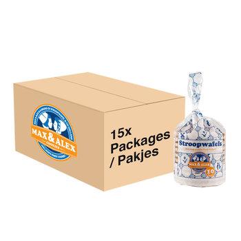 Max & Alex Max & Alex Stroopwafels 15x 315 gram pakje - omdoos
