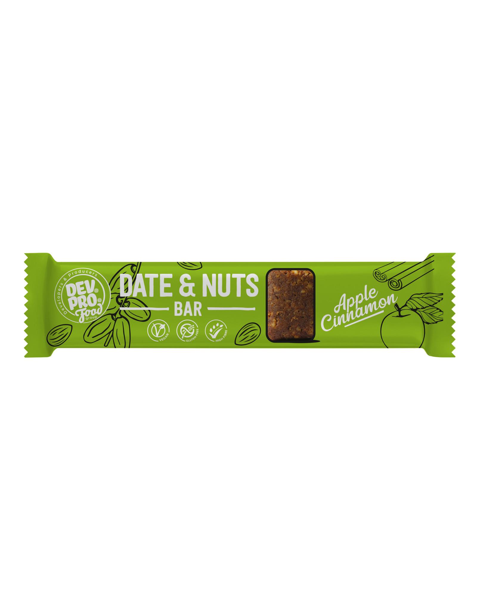 DEV. PRO. EUROPE Dev. Pro. Date & Nuts bar - Apple Cinnamon  - 30 gram - single (EU, TUR, RUS)