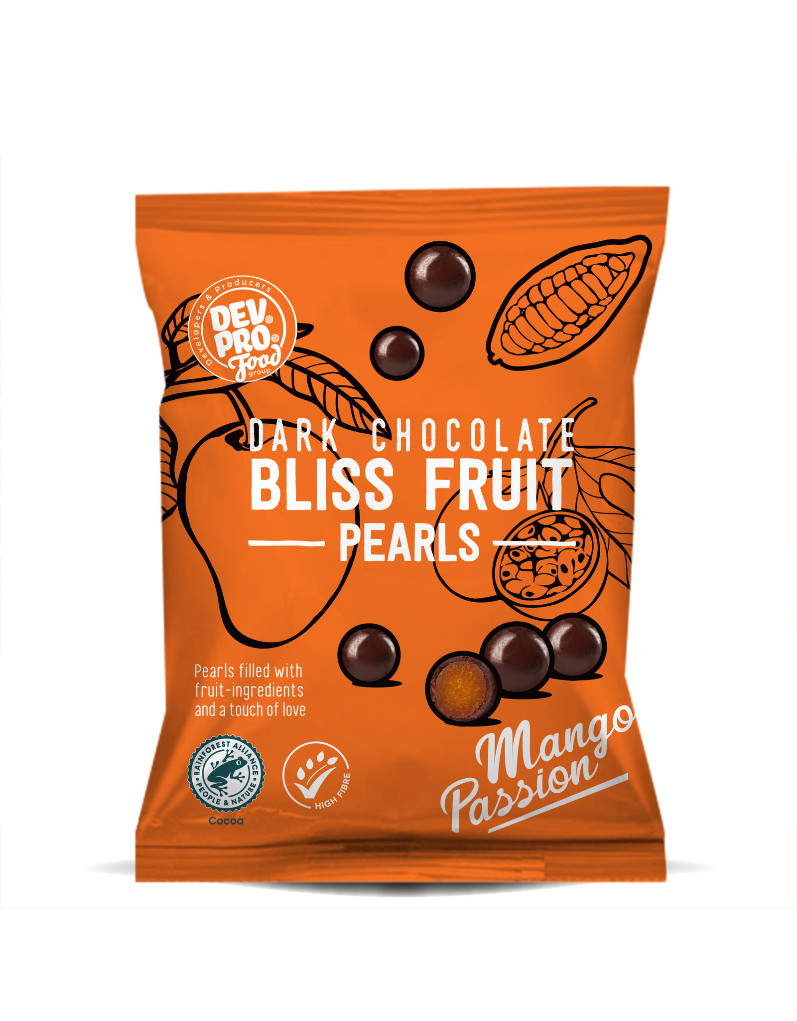 DEV. PRO. EUROPE Copy of Dev. Pro. Fruit Balls - Dark Bliss Pearls - Orange - 40 gram pack (EU, TR,  RUS)