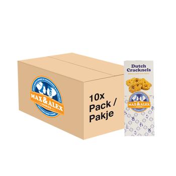 Max & Alex Max & Alex Neerlandais Bretzels Sucres (200 gram) 10x - carton principal