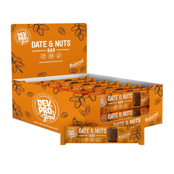 DEV. PRO. EUROPE Dev. Pro. Date & Nuts bar - Natural  - SRP 16x 30 gram - single  (EU, TUR, RUS)