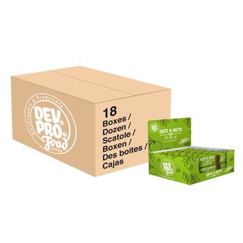 DEV. PRO. EUROPE Dev. Pro. Date & Nuts bar - Apple Cinnamon  - CARTON 18x SRP (16x 30 gram) - (EU, TUR, RUS)