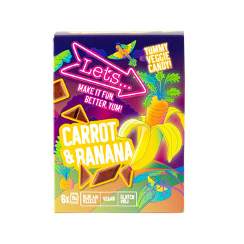 Let's Let's Carrot & Banana Vegetable & Fruit Candy - 90 grams box