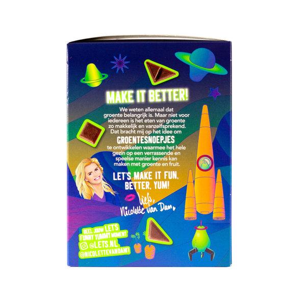 Let's Let's Wortel & Peer Groente & Fruit Snoep - 90 gram doosje