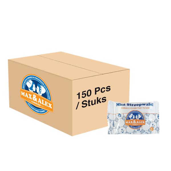 Max & Alex Max & Alex Mini Stroopwafels Single Packed (8 gram) 150x - omdoos