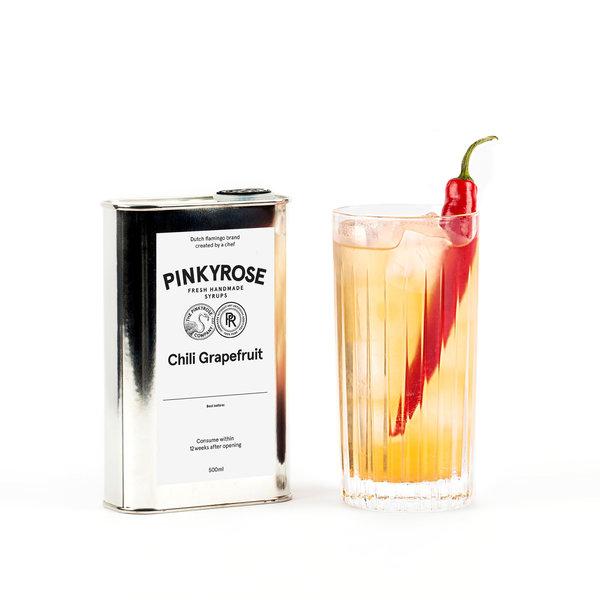 PINKYROSE Pinkyrose syrup Chili Grapefruit - 6x 500 ml - omdoos
