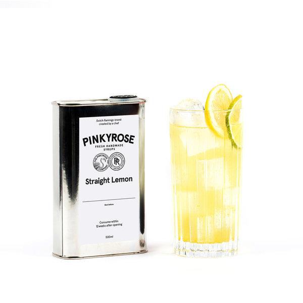 PINKYROSE PinkyRose - Straight Lemon smaak - verse handgemaakte siroop - 500 ml