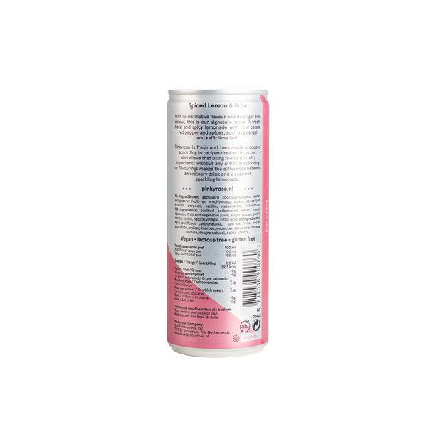 PINKYROSE PinkyRose - Bruisende Limonade - Spiced Lemon & Rose - 6x 250 ml - halve tray