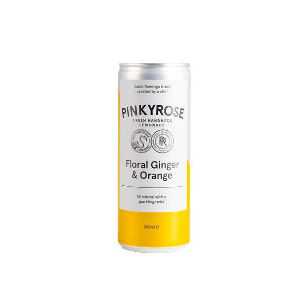 PINKYROSE PinkyRose - Bruisende Limonade - Floral Ginger & Orange - 6x 250 ml - halve tray