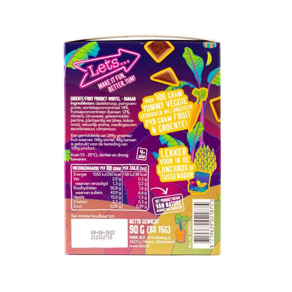 Let's Let's Carrot & Banana Vegetable & Fruit Candy - 4 x 90 grams - master carton