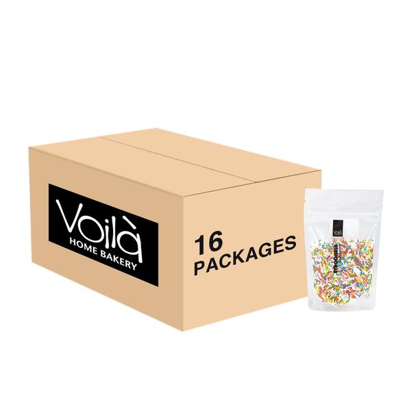 VOILA Home Bakery Voila suikerhagel regenboog - 16x 70 gram - omdoos
