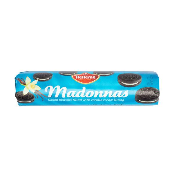 Hellema Hellema - Madonnas - Oat cookies - Dark biscuit with Vanilla cream filling - brown - 176 gram - pakje