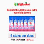 Blue Wonder OP = OP Blue Wonder Desinfectie Reis/WC Doekjes - 6x 20 omdoos