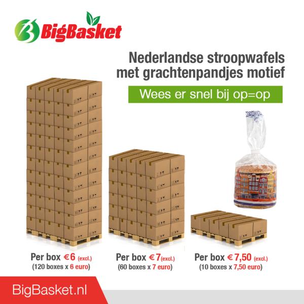 OP = OP Grachtenpandjes Stroopwafels - 15x 315 gram pakje - omdoos