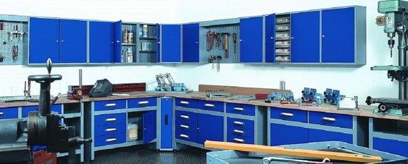 Werkbank Grijs / Blauw (RAL 5002)