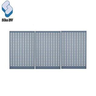Stalen gatenpaneel 3-delig 70100
