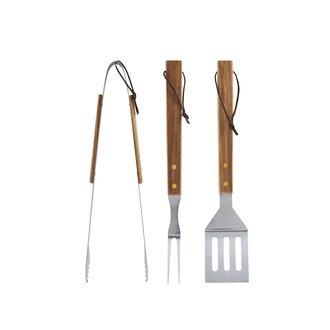 Nicolas Vahe BBQ tools, Acacia, Set of 3 pcs