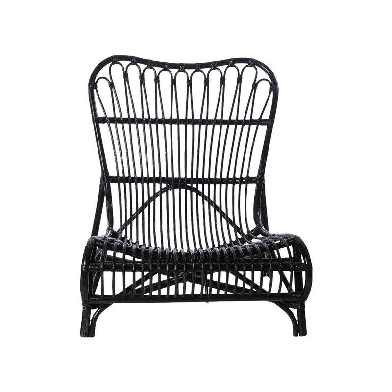 House Doctor Lounge stoel Colone, zwart