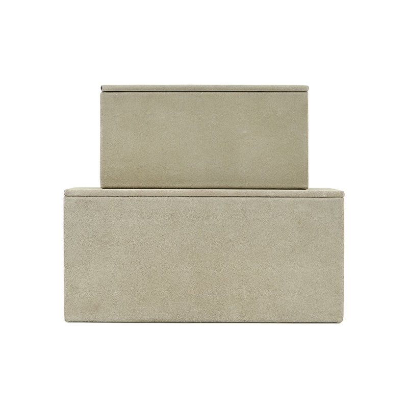 House Doctor Storage, Suede, Grey, Set of 2 sizes